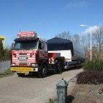 Transport Van Dutch 50 plug van Mast Jachtschilders Drachten naar Adel Polyester Genemuiden.
